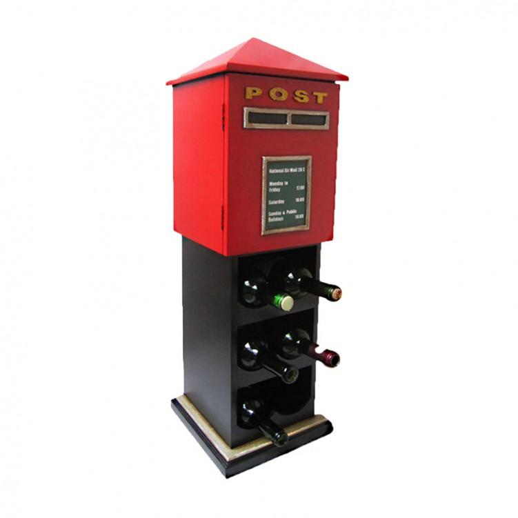 Wooden Mailbox Wine Rack