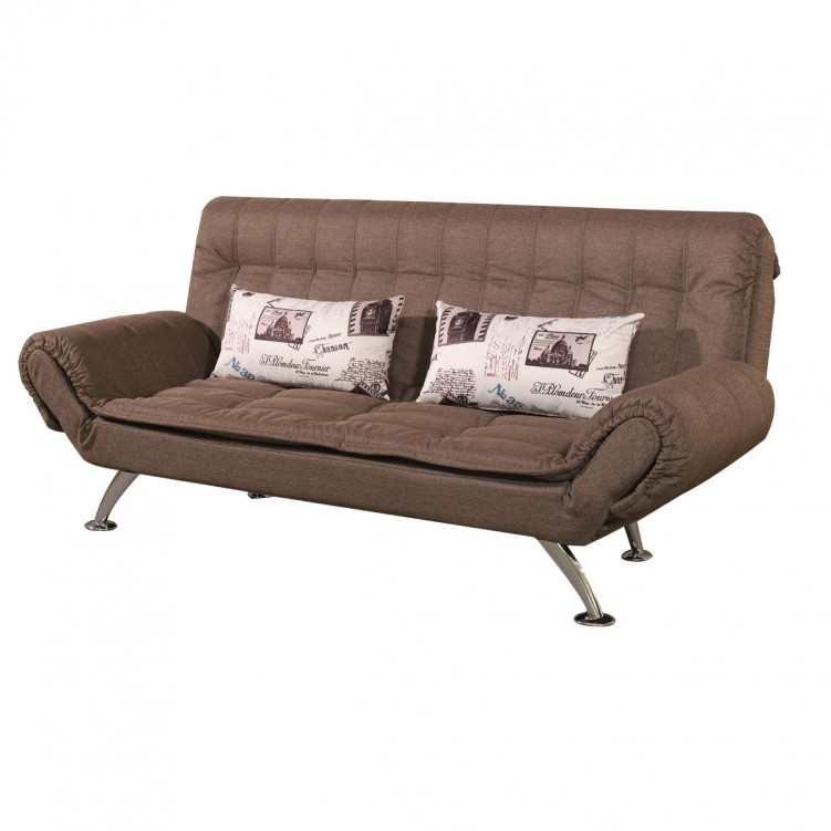 LESSO HOME Folding Sofa Bed, 2 Seater Grey Fabric