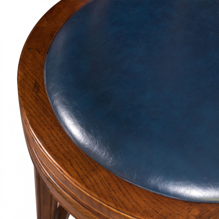 LESSO HOME Counter Tall Wood Bar Chair, Blue Pad