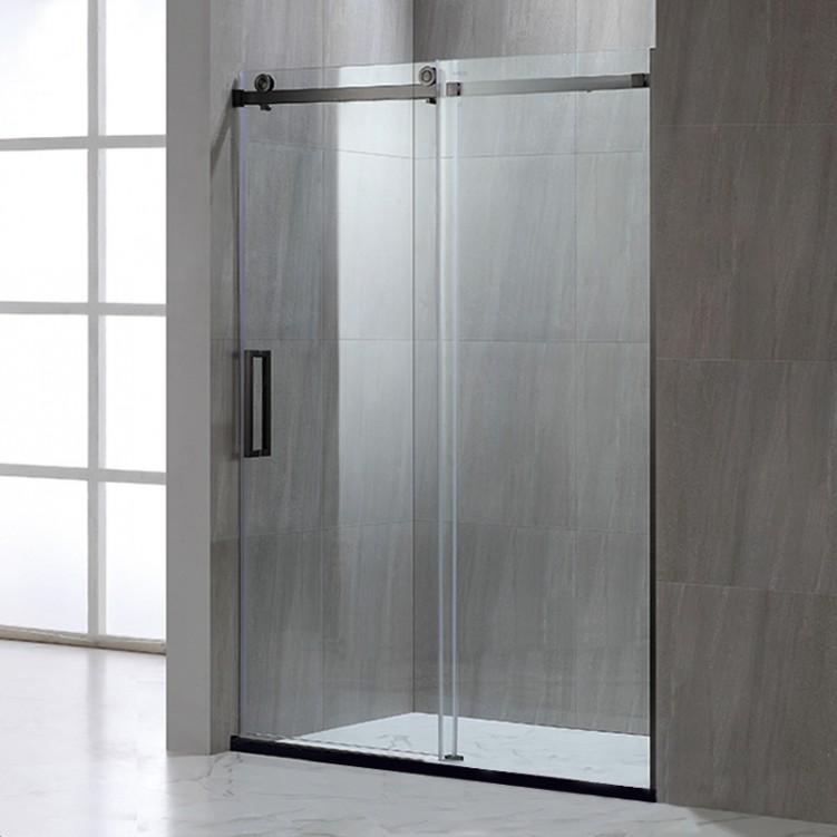 Titanium Black Stainless Steel Tempered Glass Shower Screen - Shower ...