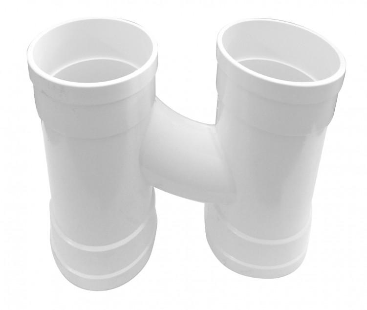 Integral H pipe fitting White, PVC-U Drainage
