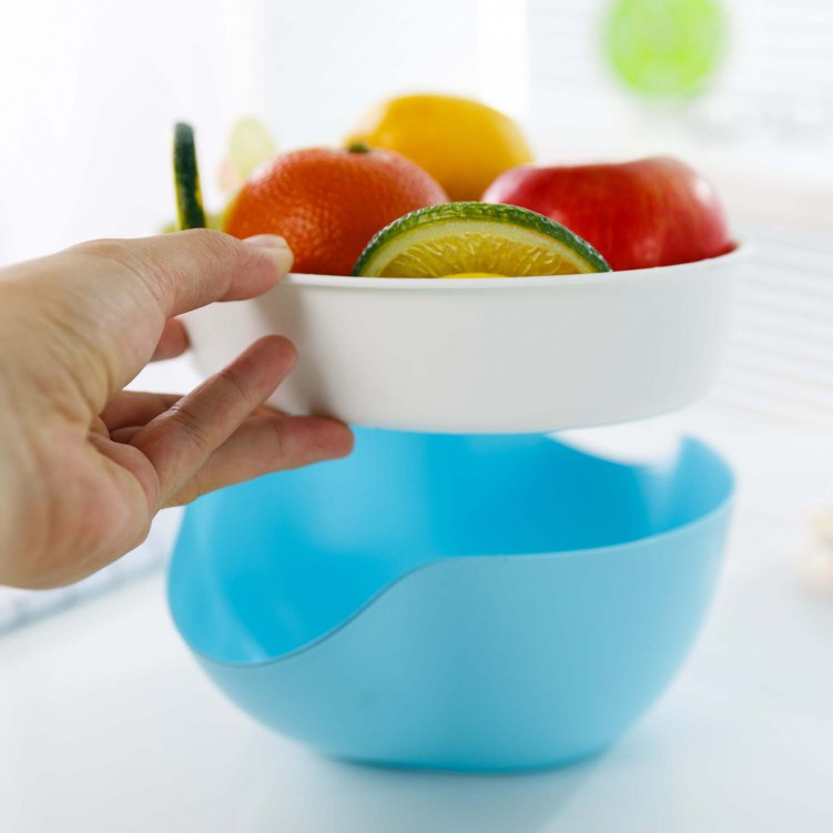 Fruit Basket with Draining and Storage Function