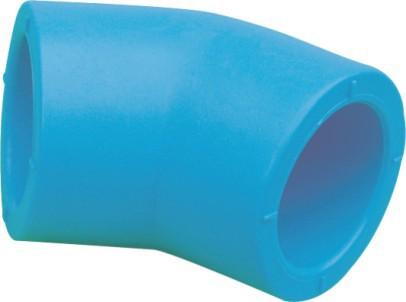 PE Water S/F 45° Elbow Blue