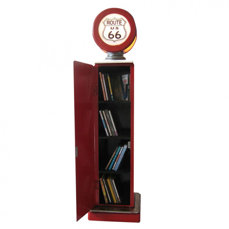 Gas Pump CD Rack with Light