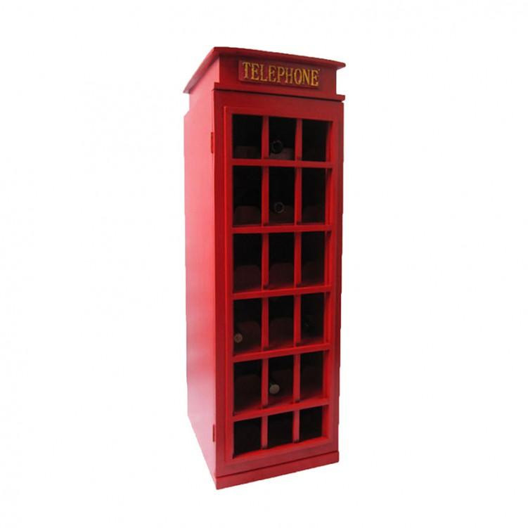 Telephone Booth Wine Rack