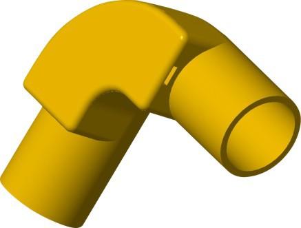 TIS PVC-U  Conduit 90° Inspection Elbow Yellow