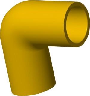 TIS PVC-U  Conduit 90°Elbow Yellow
