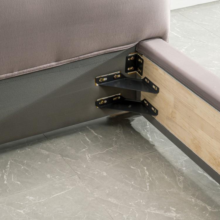 Purple Fabric Platform Bed