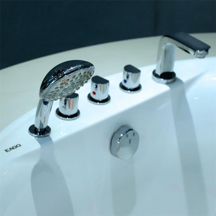 EAGO Hydromassage Free Standing Circular Bathtub