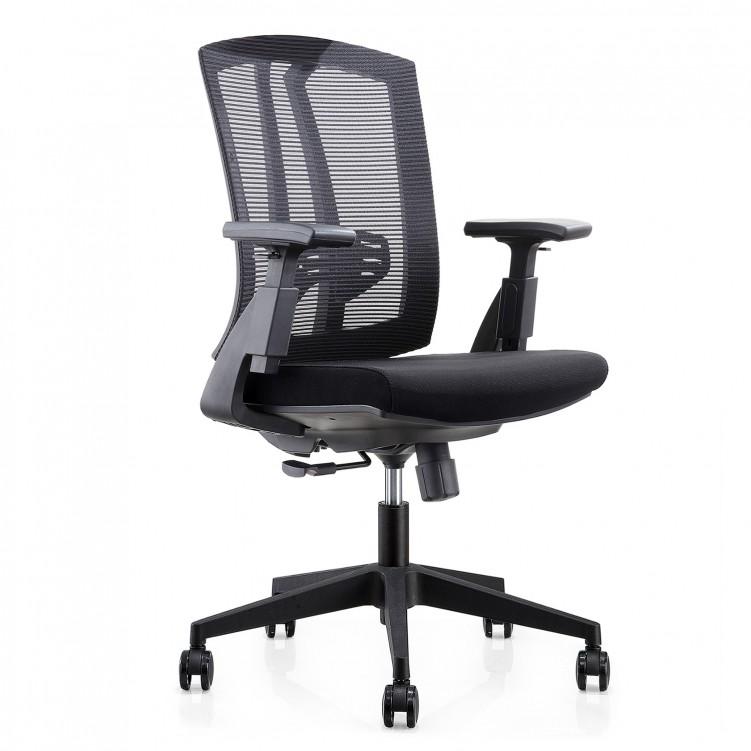 Office Chair, Black  Mesh Sponge CH-163B