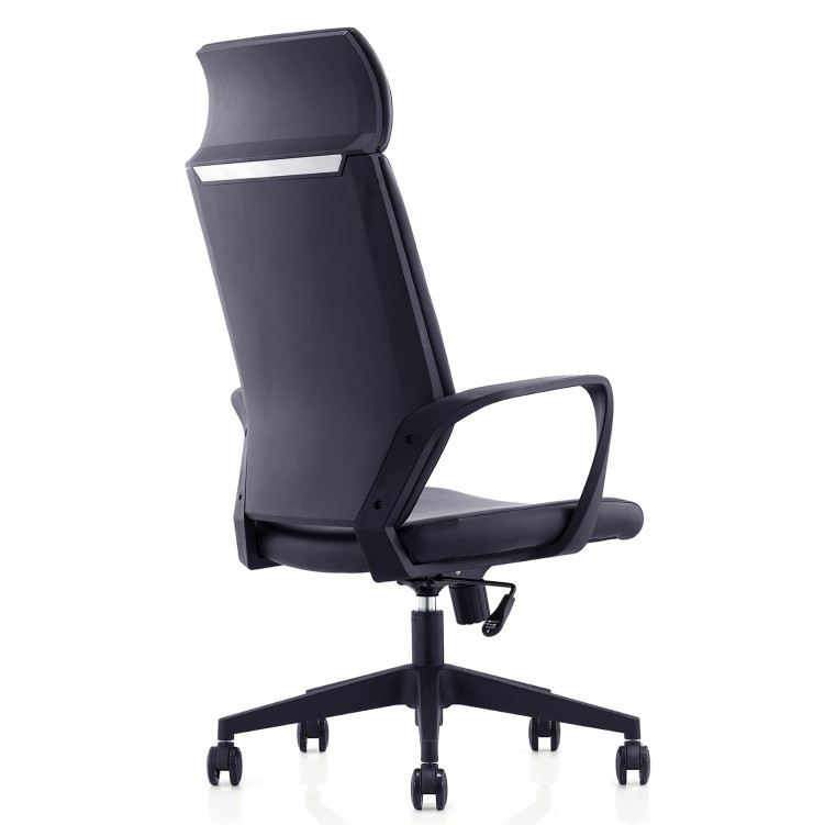 Office Chair, Black Leather Sponge  CH-192A