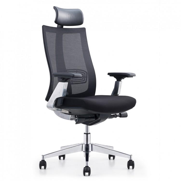 Office Chair, Black Mesh Aluminum Alloy Strake CH-203A