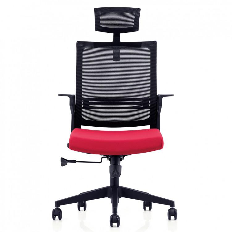 Office Chair, Black Mesh Molded Foam  CH-198A