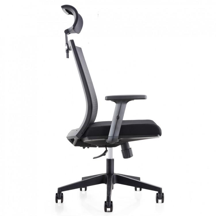 Office Chair, Black Mesh Molded Foam CH-179A