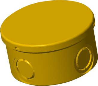 TIS PVC-U  Conduit Circular Junction Box Yellow