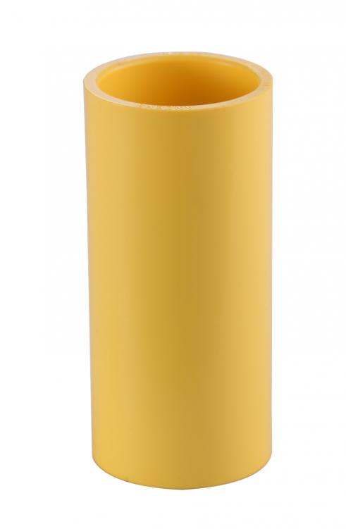 TIS PVC-U  Conduit Coupling Yellow