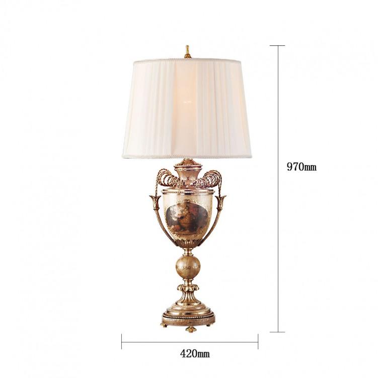 Calvin Patik Table Lamp, High quality, Copper, CT1127-1AG