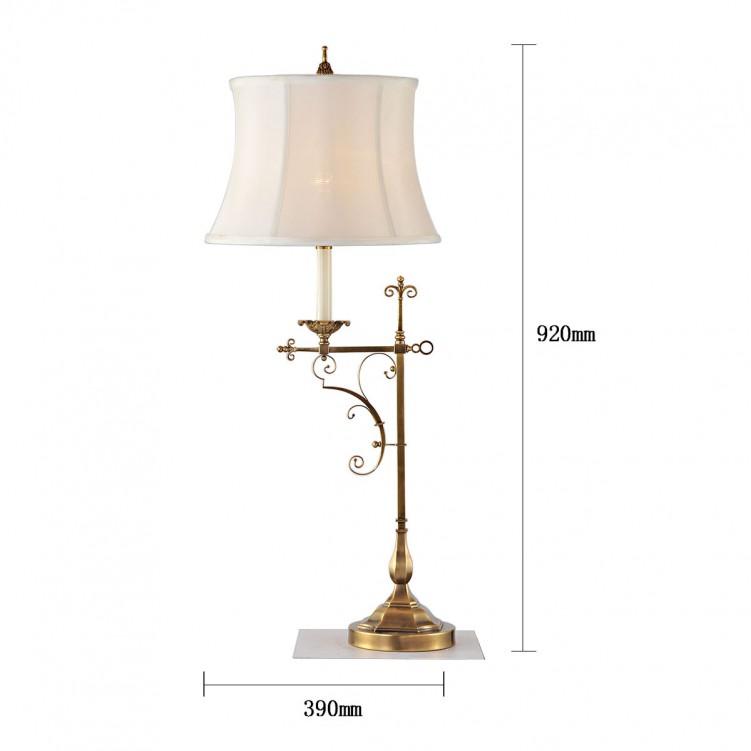 Calvin Patik Table Lamp, High quality, Copper, CT1249-1VBN
