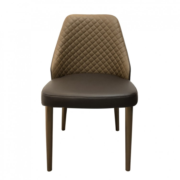 LESSO HOME Brown leather Armless Slipper Chair