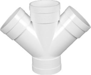 Double Wye White, PVC-U Drainage
