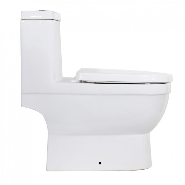 Wash-Down One-Piece Ceramic Toilet