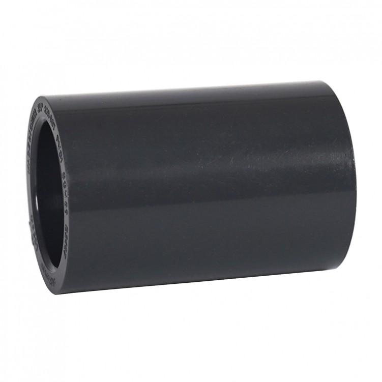 ASTM PVC Water SCH80 Coupling (SXS) Dark Grey