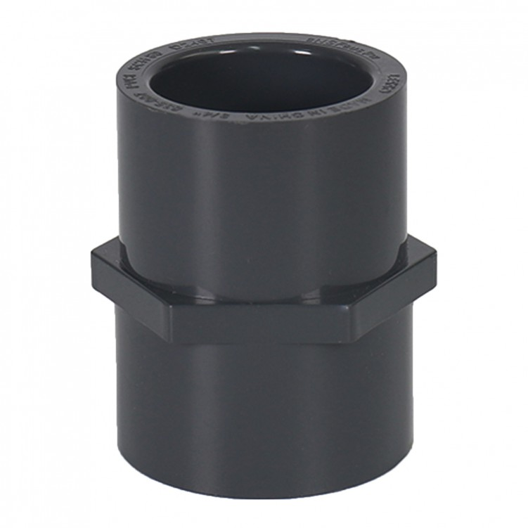 ASTM PVC Water SCH80 Female Adapter (SXF) Dark Gray