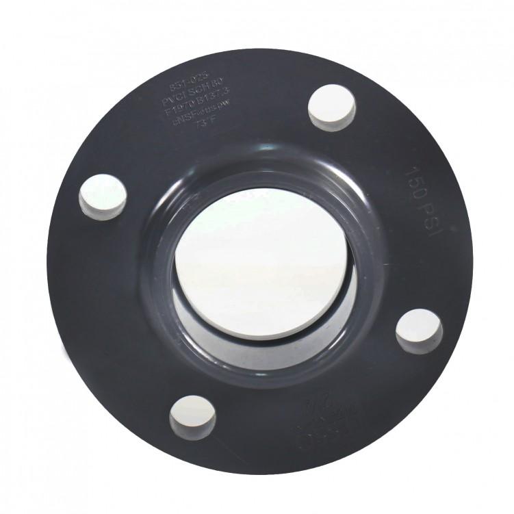 ASTM PVC Water SCH80 Flange Dark Grey