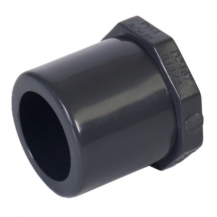 ASTM PVC Water SCH80 Plug(SOC) Dark Grey