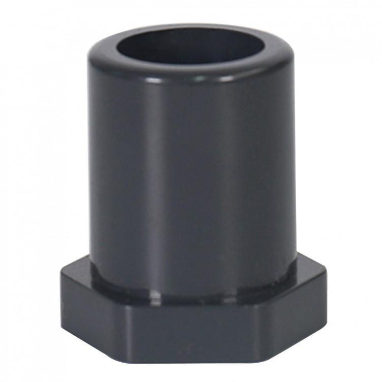 ASTM PVC Water SCH80 Reducing Bushing Flush Style (SXS) Dark Grey