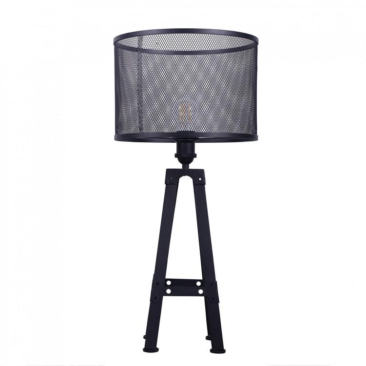 Loft Style Black Grid Iron Table Lamp