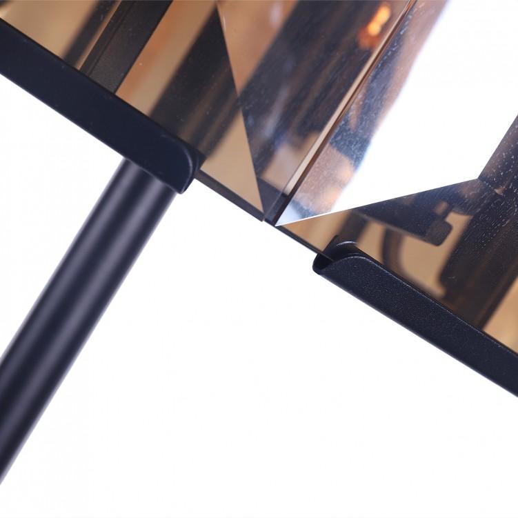 Modern Amber Glass Standing Floor Lamp