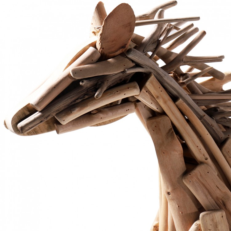 Running Horse Wooden Craft