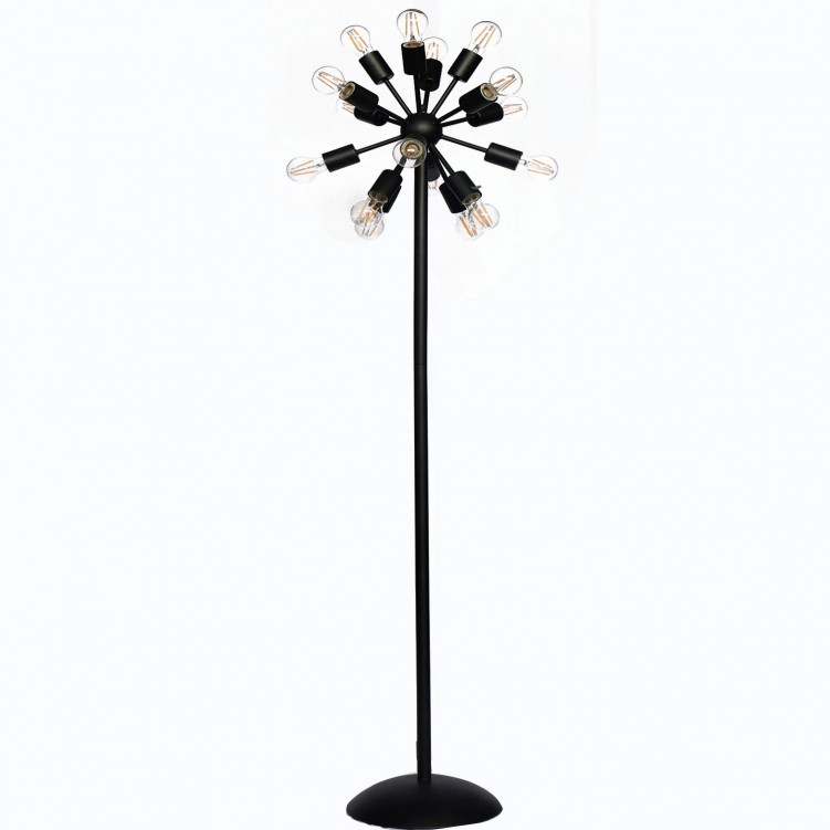 Satin Black Floor Lamps With Max. E26 Light Source