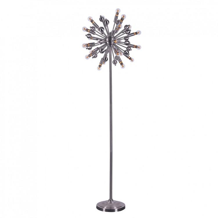 Satin Nickle Iron Floor Lamps