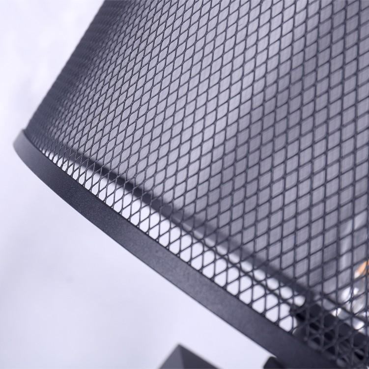 Simple Creative Black Grid Iron Shade Floor Lamp