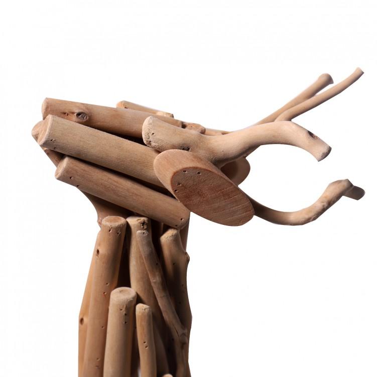 Strutting Deer Wooden Craft for Home Decoration