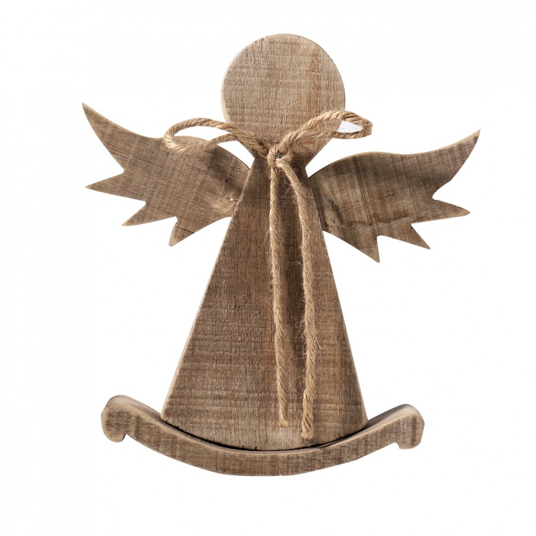 Wooden Angel Table Decor on A Stand
