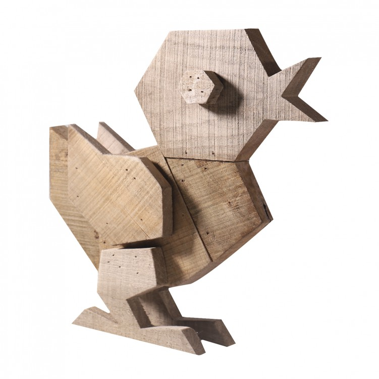 Wooden Chicken Craft for Ornament