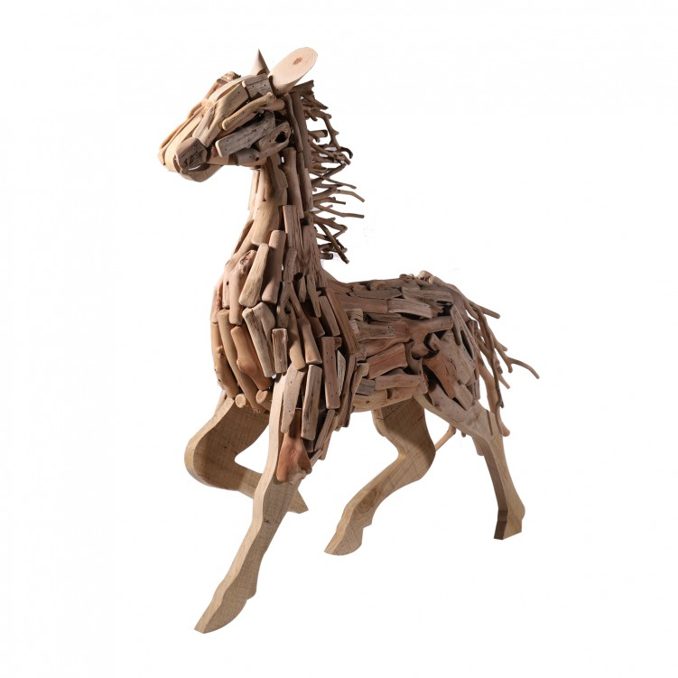 Wooden Running Horse Craft