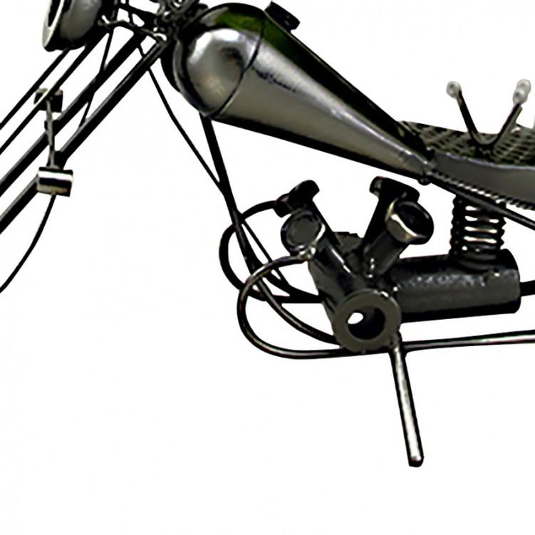 Motobike Wine Holder Iron Handmade JX-10567