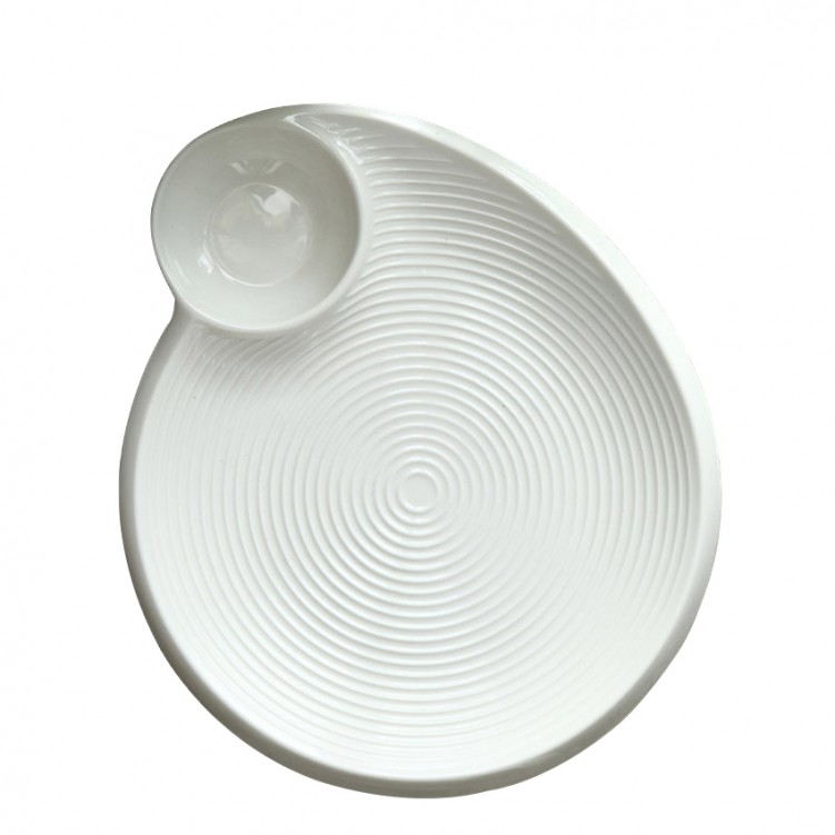 Porcelain Thread Dumplings Plate
