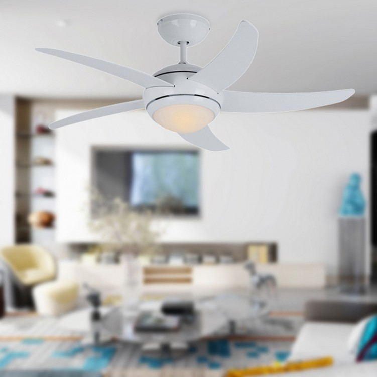 1.73mm RC Ceiling Fan with Light, White Finish
