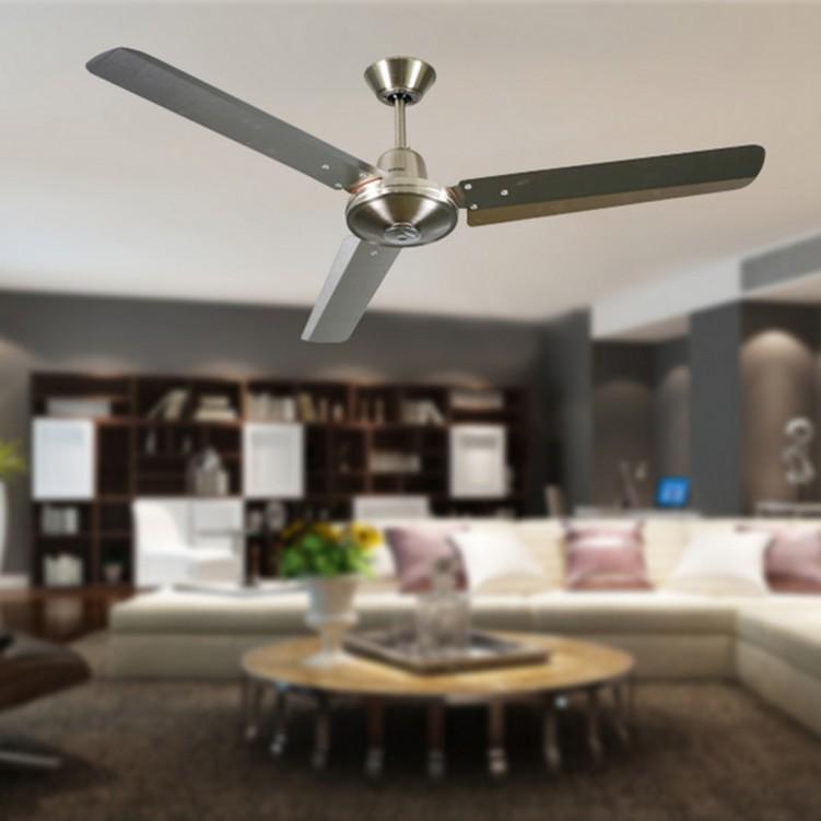 2.2mm Industrial Ceiling Fan,Brushed Nickel