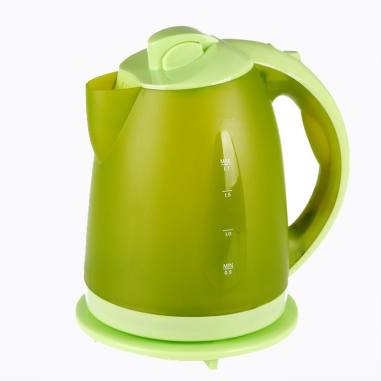 2L Electric Kettle with Water Level Scale Base 1800w Green