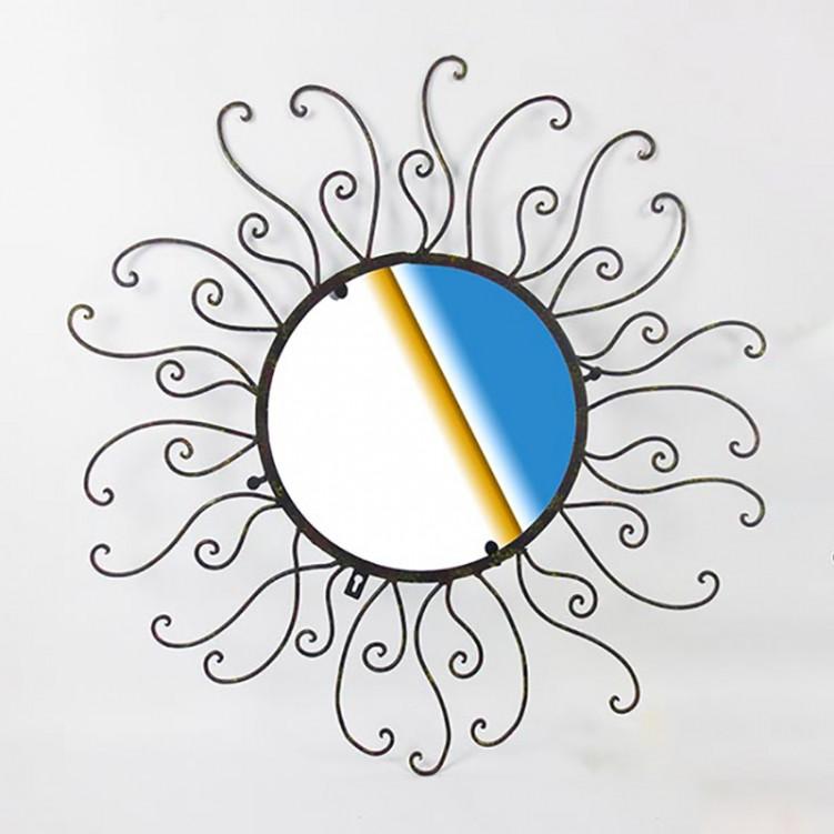 Decorative Metal Flower Wall Mirror
