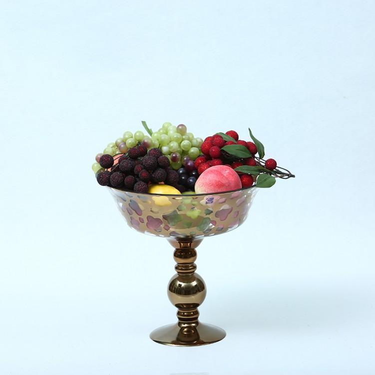 Compote Bowl Centerpiece Glass Antique Pedestal Vase