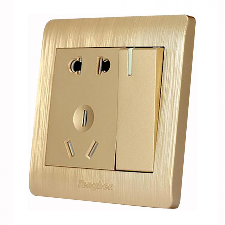 1 Gang Switch with 5 Hole Socket 10A