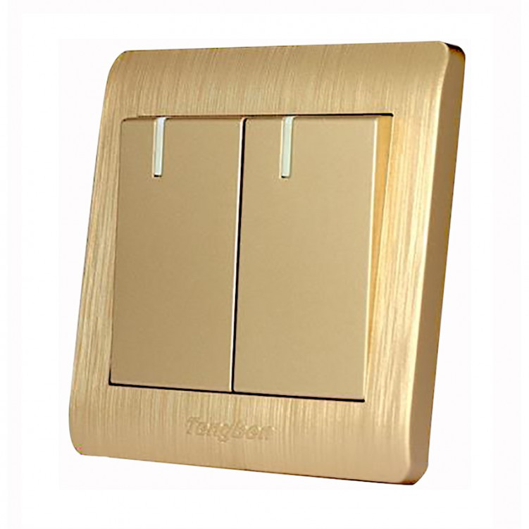 2 Gang/2 Way Switch with Fluorescent Plywood 16A