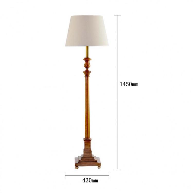 Calvin Patik Floor Lamp, High quality, Copper, LT1287-1VBN